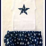 Star Denim Nappy Cover Set