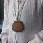 Wooden terrarium necklace - jar