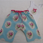 Rose Harem Pants & Singlet - New Born