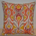 Coral, Taupe & Cream Designer Cushion Cover
