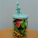 Dinosaur storage jar. Cute gift idea.