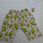 Peas in a Pod Harem Pants and Singlet - New Born
