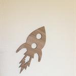 Rocket Ship - Wooden - Laser Cut Wall Art