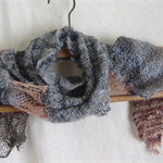 Alpaca and Stainless Steel Wool.. Scarf