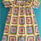 Gypsy Smock Peasant Style Dress Size 1-3 Flower Power Squares
