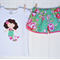 Mermaid Tee + Shorts Set Sizes 1-5 Pretty, floral, green, pink, Beauty queen