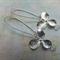 Silver Flower & Raindrop Earrings