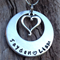 names / own message personalised necklace, with antique silver love heart.