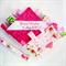STRAWBERRY TEA PARTY Baby Security Blanket Blankie Taggie Toy +FREE Taggie Saver