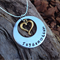 names / own message personalised necklace, with antique gold love heart.