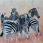 "Zebra, PRINT, Watercolour painting, 10x8"" Wall art, Home Decor, Zebra Painting"