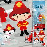 (Fire Department) Fabric Height Chart 30x106cm