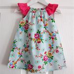 Blue Floral Happyland Seaside Flutter Dress