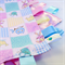 PATCHWORK HOOTY OWLS Baby Security Blanket Blankie Taggie Toy + Taggie Saver