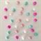 Felt Ball Garland Turquoise, Light Pink, Pink & White