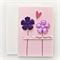 handmade birthday card for her purple fabric flowers