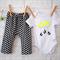 Geometric Harem Pants, and Neon Cloud onesie - baby, winter, black, novelty, boy
