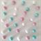 Felt Ball Garland Tiffany Blue, Light Pink & White