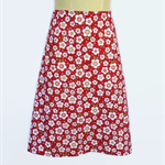 Retro Red Daisy A Line Skirt - Ladies sizes avail - flower, floral