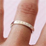 Custom Hand Stamped Silver Ring