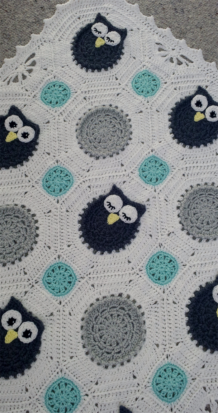 Crochet Owls Baby Blanket | Hayleys Little Things | madeit.com.au