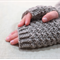 Child fingerless gloves - taupe grey / soft merino wool / 4-7 years