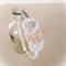 Champagne crochet flower headband. White & cream.
