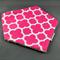 Bandana Dribble Bib - Pink Quatrefoil