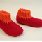 Washable woollen felt slippers with leather soles for babies