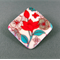 Brooch - Diamond Red Vintage Flower