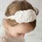 Christening headband Baptism headband Headband Ivory baby headband