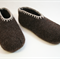 """XL """"European Style"""" washable woollen felt slippers with leather soles"""
