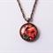 Autumn Leaves Glass Cabochon Pendant Necklace