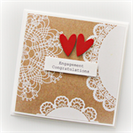 engagement card handmade kraft doilies