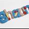 Alphabet Cricket (5 letters) - 100% pure wool felt bag charm keyring