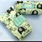 Nappy Diaper Change Mat with Nappy Wallet Cream Elephant Splash
