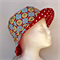 Blue Buttons and Red Spots Reversible Bucket Hat - girls sizes 6 mths - 8 yrs