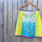 Echino birdsong & green A line skirt