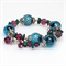 Teal and Amethyst Crystal Wrap Bracelet