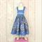 Girls sundress, blue fairy dress, summer dress, floral dress.