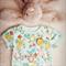 9-12 Months (Size 0) Baby Girls RETRO FLORAL Onesie // Baby Onesie // Babygrow