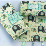 Nappy Diaper Change Mat with Nappy Wallet and Tag Blankie Cream Elephant Splash