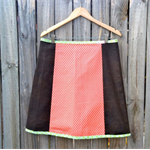 Damask red and brown A line skirt