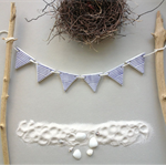clay tag garland - stripes and flags