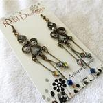 Light Blue Crystal drop earrings