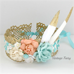 Glitz lace flower crown by Vintage fairy