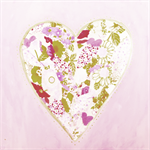 Pink & Gold Heart 'Tree Free' Elephant Dung Greeting Card with Envelope