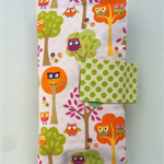 Nappy Diaper Clutch Bag Pink Owls and Pink Spots