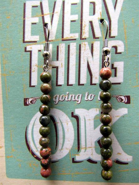 Unakite Stone Earrings
