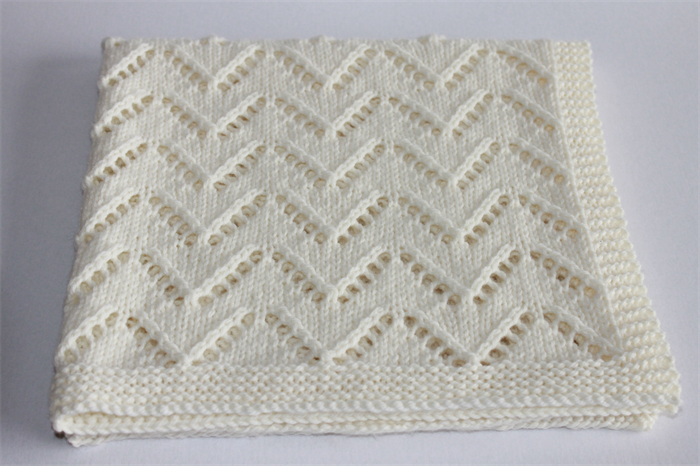 Baby Blanket Cream Hand Knitted Pram Stroller Car